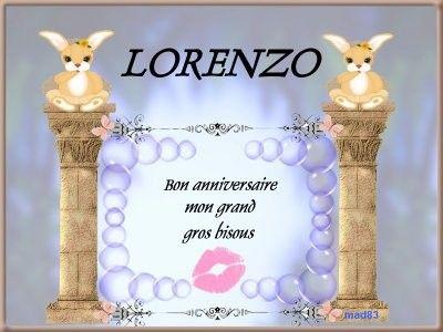Anniversaire lorenzo page 2 - Lorenzo prenom ...
